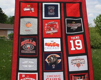 Chicago Cubs Quilt Etsy