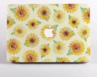 Hard Plastic Sunflowers Pattern MacBook Case Design for MacBook Pro, MacBook Pro Retina Display and MacBook Air Cases