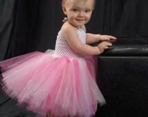 Pink Sparkle Tutu Dress, First Birthday Dress, Glitter Tutu Outfit, Photo Prop for Girls, Trending Now, Flower Girl Tutu,Birthday Photo prop