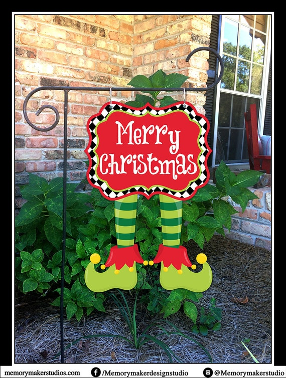 READY TO SHIP Christmas Garden Flag Christmas Yard Flag
