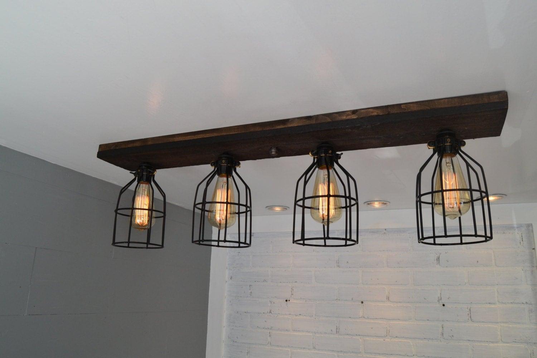 flush mount wood light wood ceiling light reclaimed. Black Bedroom Furniture Sets. Home Design Ideas