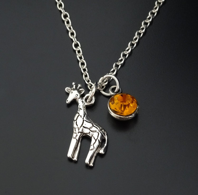 Giraffe Necklace Giraffe Charm Giraffe Pendant Giraffe