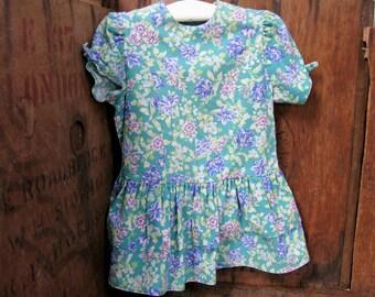 Laura Ashley Dress - Age 3 - 4 Dress - Vintage Laura Ashley - Girls Dress - 1980s Dress -  English Dress - Party Dress - Laura Ashley Print