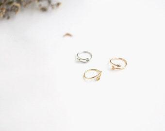 Handmade Cupid Arrow midi halfway adjustable gold silver rose gold pink ring