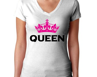 Queen Shirt - King and Queen - Couples Shirts - King Queen Shirts - Couple Tshirts - Couple T-Shirts - Matching Shirts - His and Hers