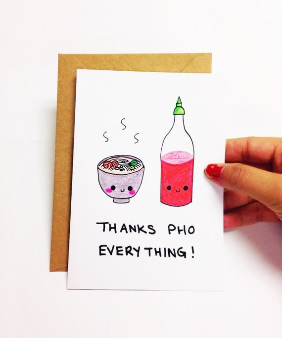 Funny Thank You Card Cute Thank You Card Funny By Lovencreativity
