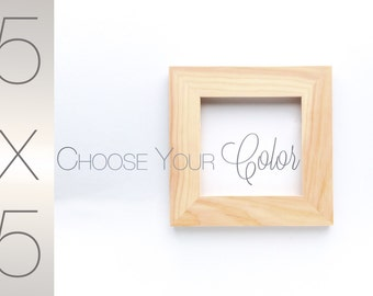 5x5 Wood Picture Frame - Choose Your Color