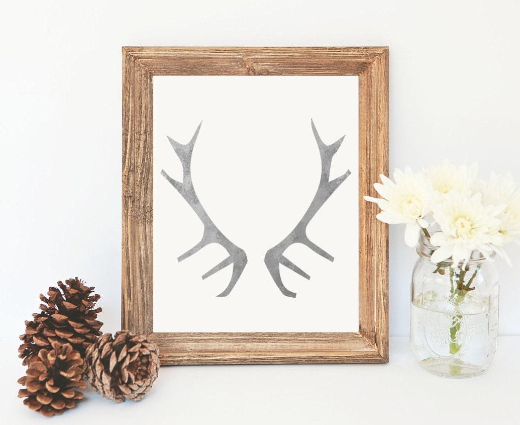 Galvanized Decor Deer Antler Printable Gallery By