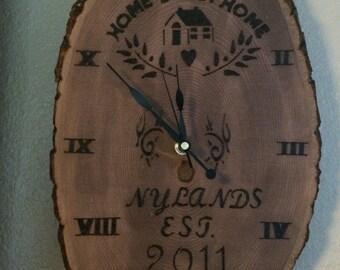 Custom Wood Clock **image for example**