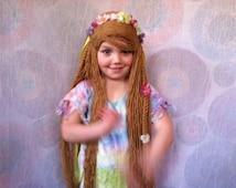 Hippie Wig, Hippie costume, Hippie Halloween, Halloween costume, Flower Child costume, 60s party, 60s costume, Adult costume, Adult wig