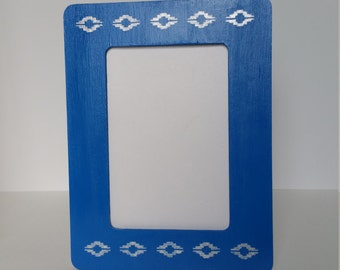 Picture Frame - Aztec Pattern - 4x6 Wooden Frame