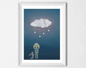 Nursery art print, Giclée print, Girls Room Art, Nursery wall art, Girls wall decor, Children illustration print, Gifts for girls