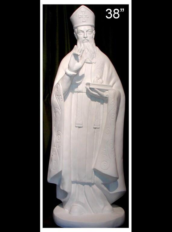 """St. Nicholas 38"""" & 49"""" Fiberglass Catholic Christian Religious Statue"""