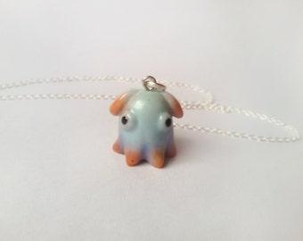 Dumbo octopus necklace, Vampire squid pendant, Animal totem, Animal necklace, Tentacle jewelry, Marine necklace, Squid jewelry, Sea pendant