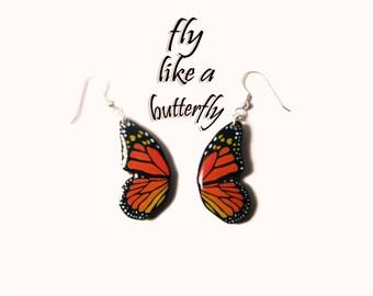 Butterfly Wings Dangle Earrings Butterfly  Drop Earrings Butterfly Jewelry Butterfly Accessories Gift Idea