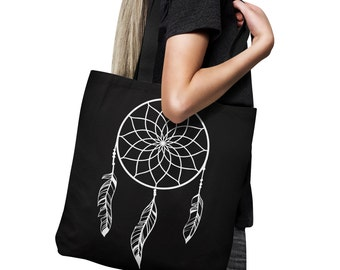 Black And White dream catcher Tote bag - Tote bag - Shopping Bag -  Beach Bag - Decorative Tote Bag - Market Tote