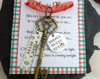 Santa's Magic key ,Santa key,  magic key, Christmas , Kids magic key, Christmas tree decoration,