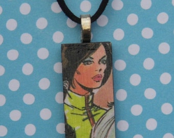 Sci Fi Siren necklace OOAK