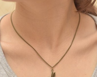 Necklace Brass Jay, Bird, Jewelry, Gift, Bronze Necklace, Christmas Gift, Gift for Her.
