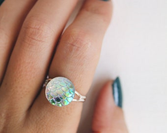 Iridescent Dragon Scale Ring