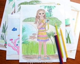 american girl doll coloring page doll coloring pages