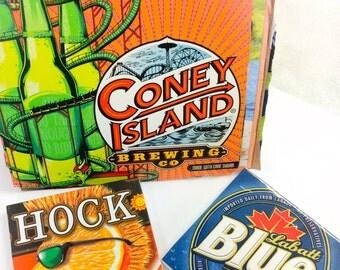 DIY Beer Coaster Set, Craft Beer Coasters, Mix Lot Of Beer, DIY Coaster Set, Drink Coaster, Bar Decor