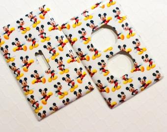 Mickey Light Switch Cover, Kids Lighting, Disney Light Switch Cover Plate, Outlet Covers, Disney Nursery, Mickey Kitchen