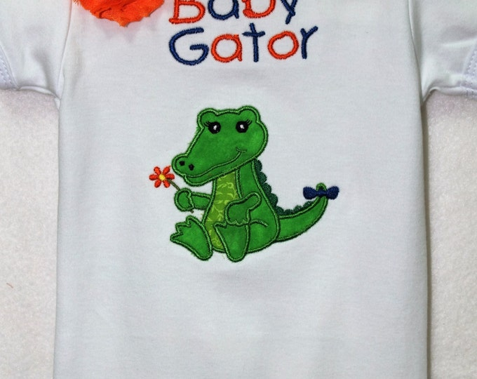 Baby girl Florida Gator bodysuit,UF baby outfit, University of Florida Gator baby bodysuit, Baby Gator shirt,Personalized baby girl bodysuit