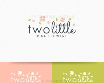 Flowers Logo Children Logo Baby Logo Design Photography Logo