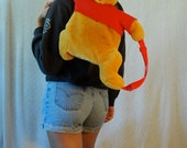Winnie the Pooh 90s Backpack Zipper Back Pouch Soft Beautiful Perfect Condition
