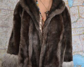 Vintage Faux Fur Wrap
