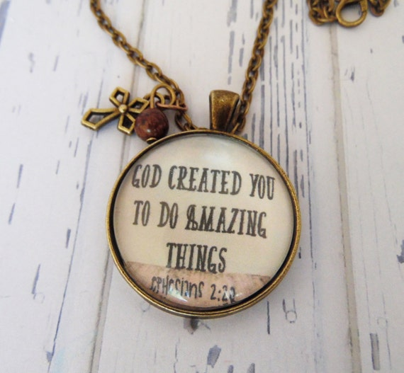 God Created You To Do Amazing Things Necklace By