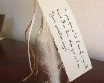 Guardian Angel Feather in a bottle
