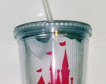 Disney Inspired Tumbler with Straw