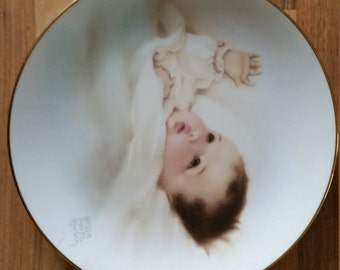 "The Hamilton Colection Bessie Pease Gutmann ""Awakening "" Plate"