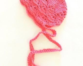 Newborn Bonnett, Ready to Ship, crochet bonnet