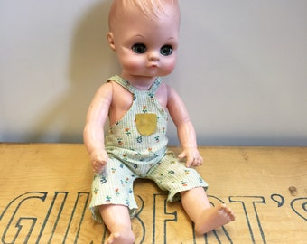 1973 Jolly Toys Inc Baby Doll with Blinking Blue Eyes