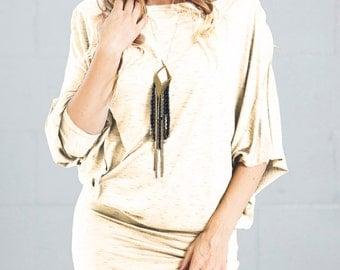 Women Asymmetric Tunic/oversized top/casual tunic /Loose top/long sleeve tunic/women top/Elegant shirt/suella tunic