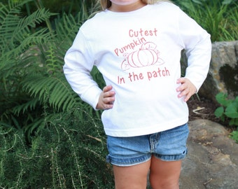 GLITTER Cutest Pumpkin in the Patch Long Sleeve Shirt