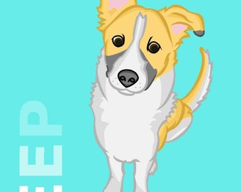 Custom Pet Portrait 11x14 or 12x12