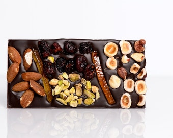 Fruits and nuts chocolate bar, fruits and nuts chocolate tablet, fruits and nuts dark chocolate bar, fruits and nuts milk chocolate bar