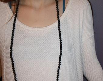 classic black wrap necklace