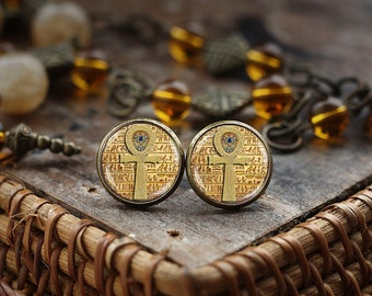 Egyptian ankh cross Earrings, Egyptian Earrings, ancient egypt jewelry, ankh Earrings, Egypt Earrings, Egyptian jewelry