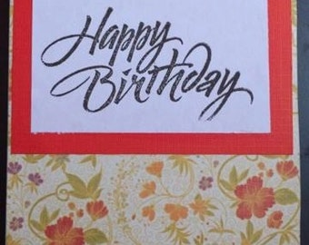 Birthday Card - Floral 1