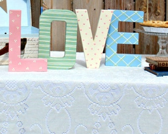 """Stand Up Hand Painted Paper Mache """"LOVE"""" for Wedding/Shower"""