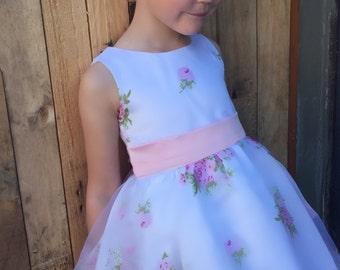 Baby girls flower dress 3-4