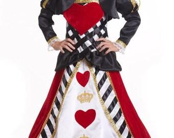 Queen of hearts costume kids Halloween Costume Halloween girls Costume Queen of hearts girls dress Queen of hearts  Halloween Costume