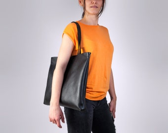 Women Laptop Bag, Leather Shoulder Bag, Laptop Tote Bag