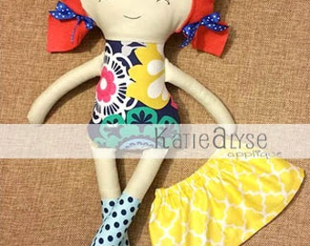 SALE** Plush Doll for Toddler Gift for Kids, Handmade Cloth Doll for Girl or Boy, Stuffed Animal, Personalized Toy