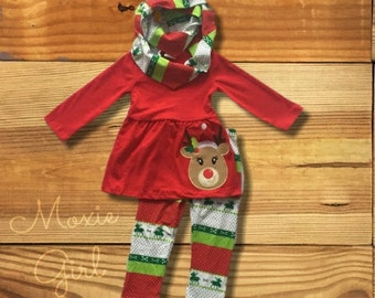 Baby Girl Christmas Outfit Personalize by MoxieGirlBoutique
